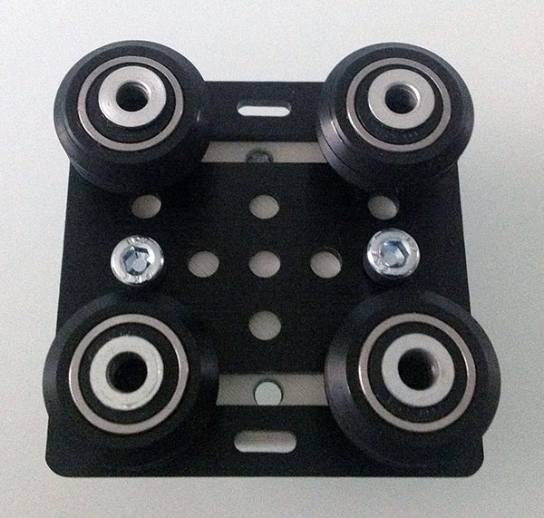 openbuilds gantry plate v2 delta carriage wheel round