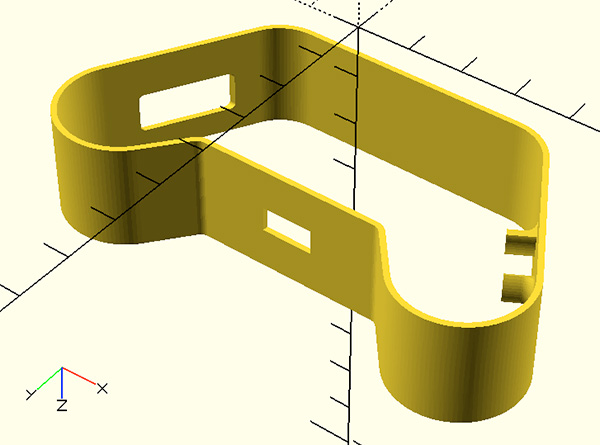 openscad joy featherwing 3D body view