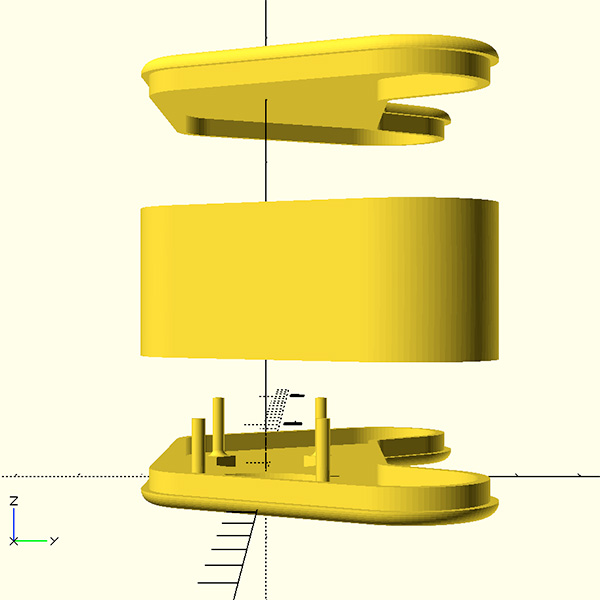 openscad joy featherwing 3D right