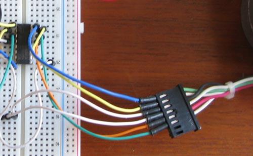 Connessione ULN2003A Motori passo-passo