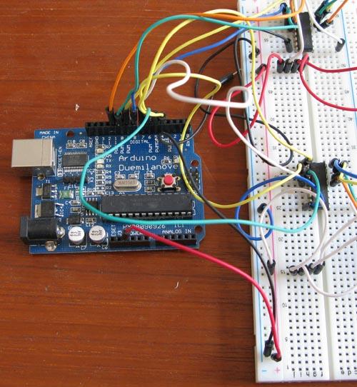 Collegamento Arduino - ULN2003A