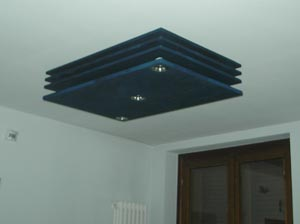 lampadario in fibra ottica