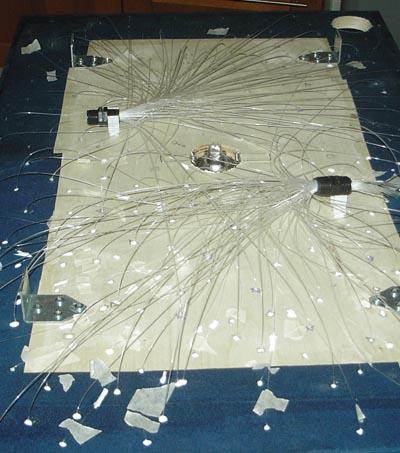 Fissare le fibre ottiche ad un pannello