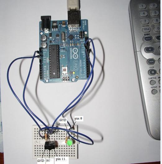 Arduino schema di collegamento del TSOP1738