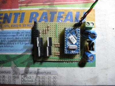 Elettronica lampadario con fibre ottiche - Arduino mini