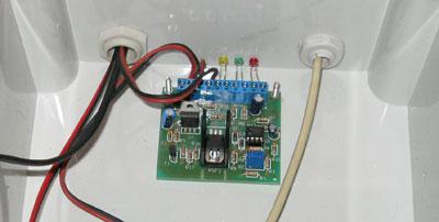 circuito caricabatterie solare montato