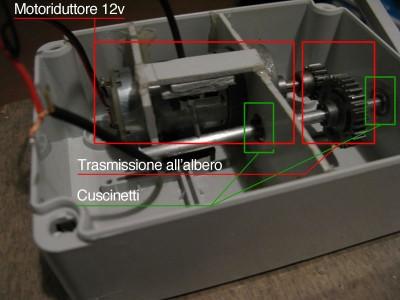 Meccanica servo per inseguitore solare