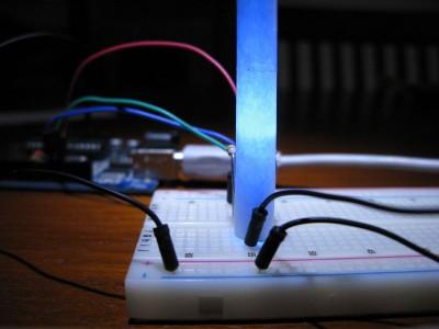 Led RGB acceso blu (#0000ff)