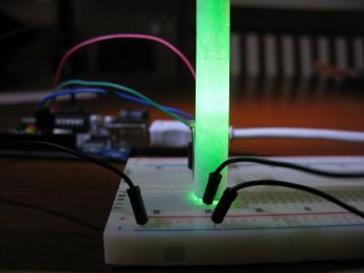 Led RGB acceso verde (#00ff00)