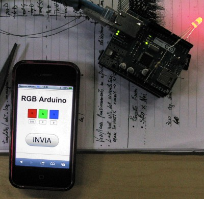 Progetto Arduino Ethernet Shield e iPhone
