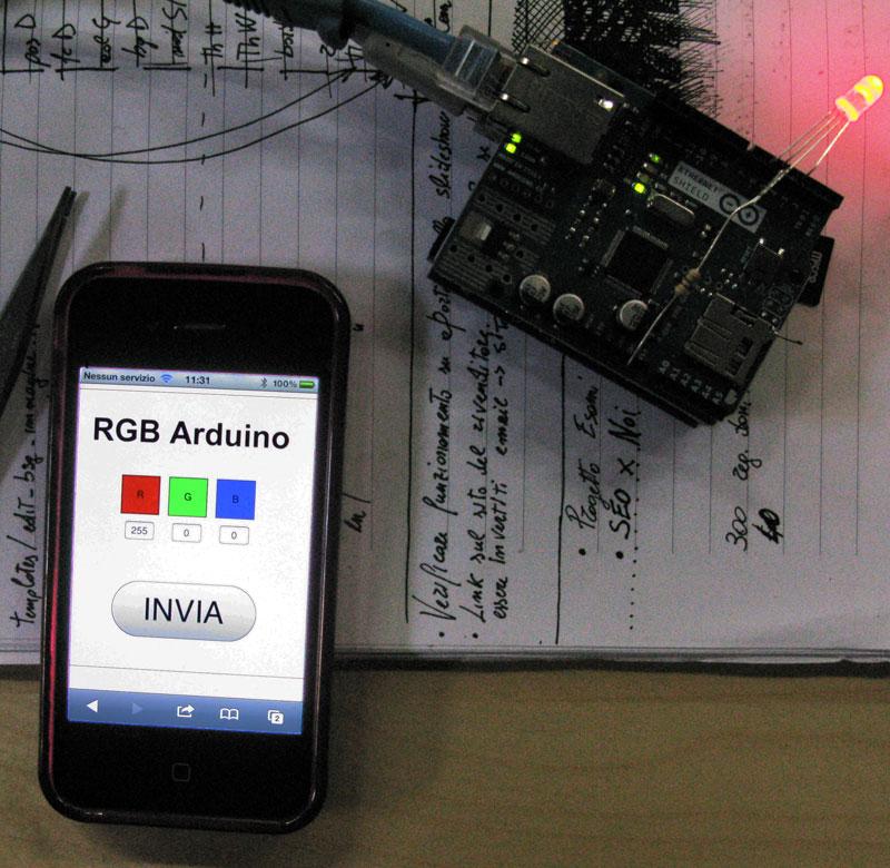 Tutorial arduino led rgb via web mauro alfieri