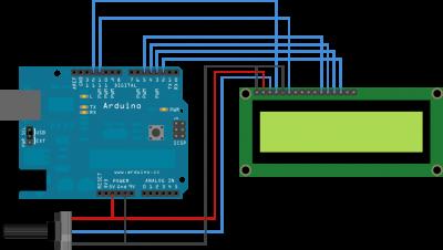 Schema di collegamento Lcd e Arduino