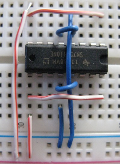 Motori bipolari primi collegamenti SN754410NE