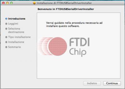 FTDI USB installazione - Slide 1