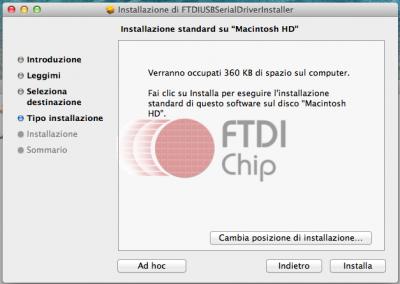 FTDI USB installazione - Slide 3
