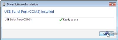 USB installata come COM3