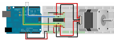Motore passo-passo bipoare con SN754410NE