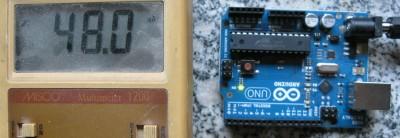 Corrente Arduino in mA a vuoto
