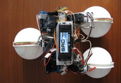 robot sfera vista dall'alto