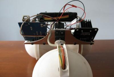 robot sfera vista frontale