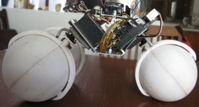 robot sfera vista lato sinistro