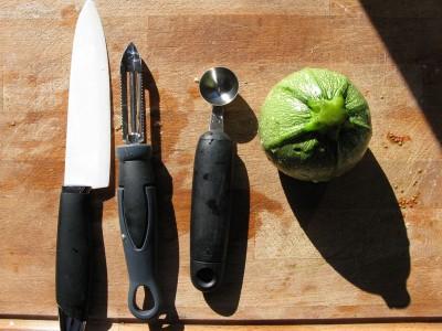 Attrezzi per svorate le zucchine tonde