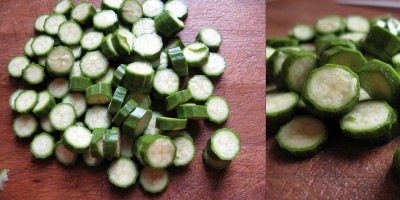 zucchine tagliate a rondelle