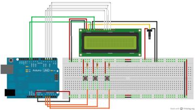 schema collegamento LCD per Dolly