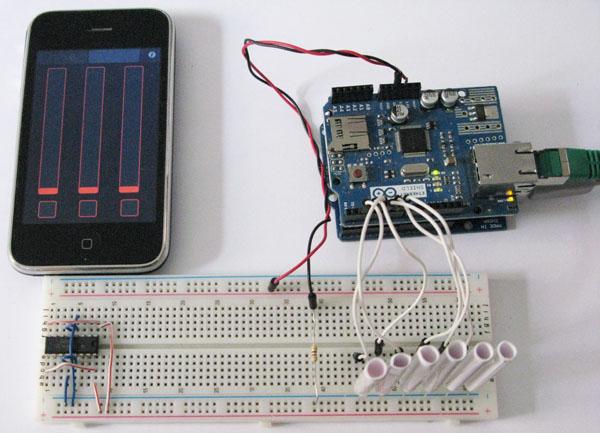 Arduino osc iphone e sei led mauro alfieri elettronica