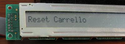 Menu principale  Reset Carrello