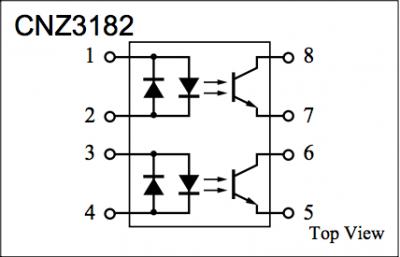 doppio fotoaccoppiatore CNZ3182