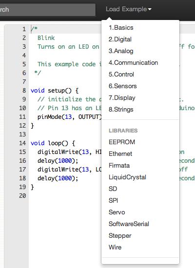 Codebender  esempi
