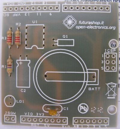 RTC shield condensatore C1