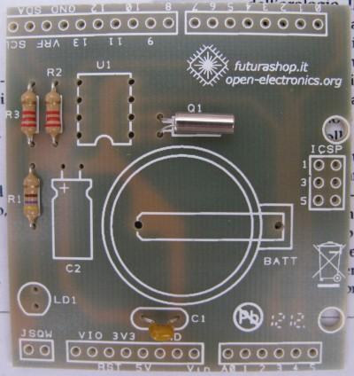 RTC shield quarzo Q1