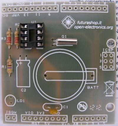 RTC shield zoccolo processore