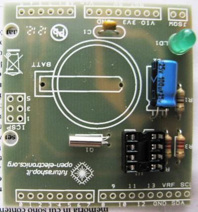 RTC shield condensatore C2 e led