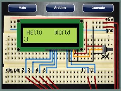 LCD-simulation