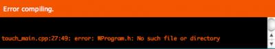 arduino compiling error