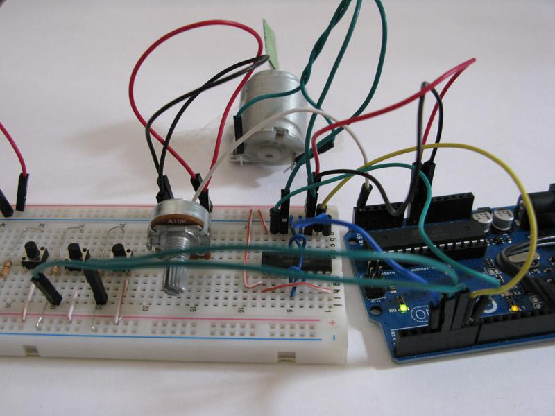Schema Elettrico Potenziometro : Tutorial motore dc controllato da interruttori e