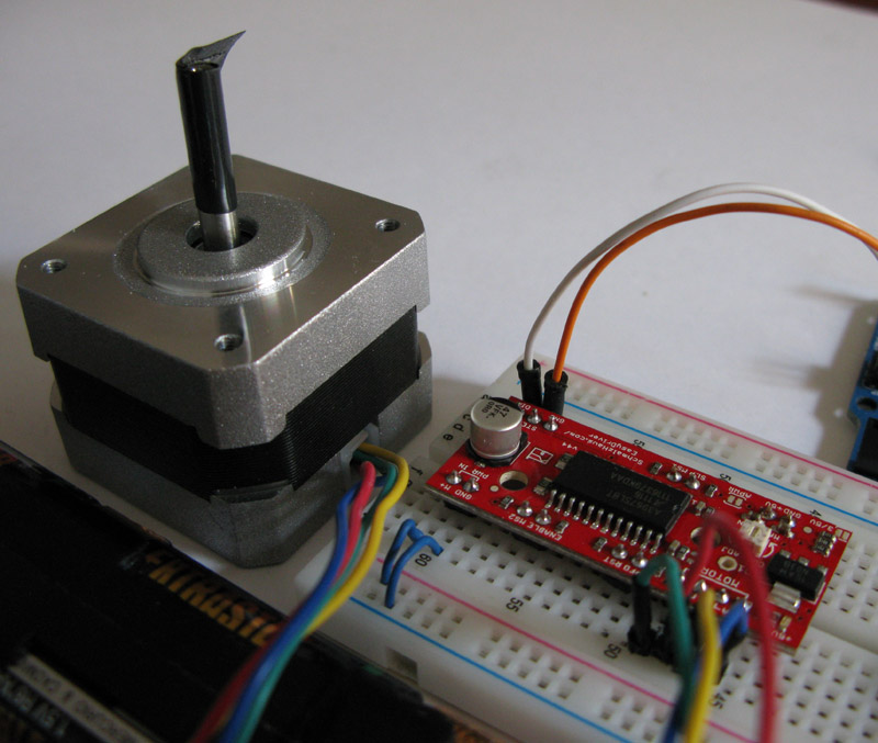 Tutorial easydriver stepper motor mauro alfieri for Easy stepper motor controller