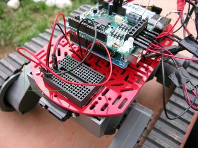 cablaggio sensori sharp 2D120X