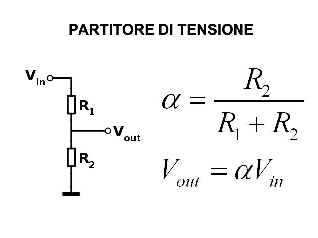 schema elettrico potenziometro lineare  potenziometro