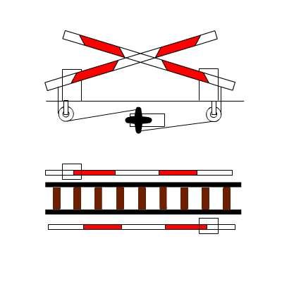 disegno del passaggio a livello per plastici