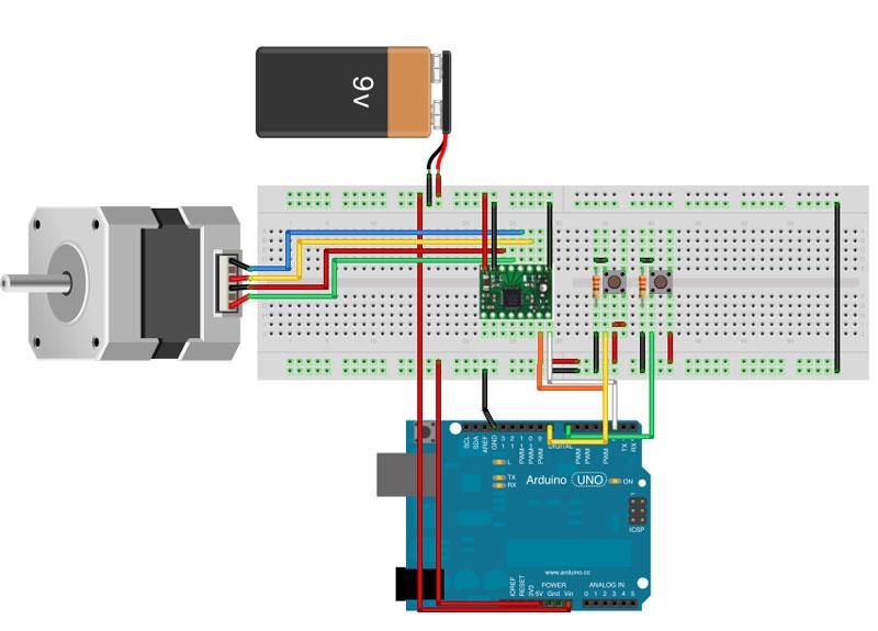 Schema Elettrico Per Motore Passo Passo : Pololu a driver per motori passo mauro alfieri