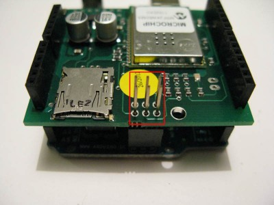 wifi shield inserimento pin SPI