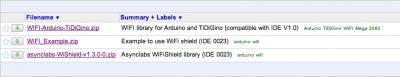 libreria wifi shield arduino
