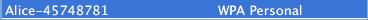 schermata preferenze di rete wifi OSX avanzate