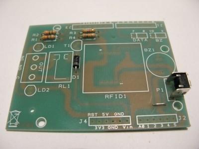 rfid shield monta il pulsante p1