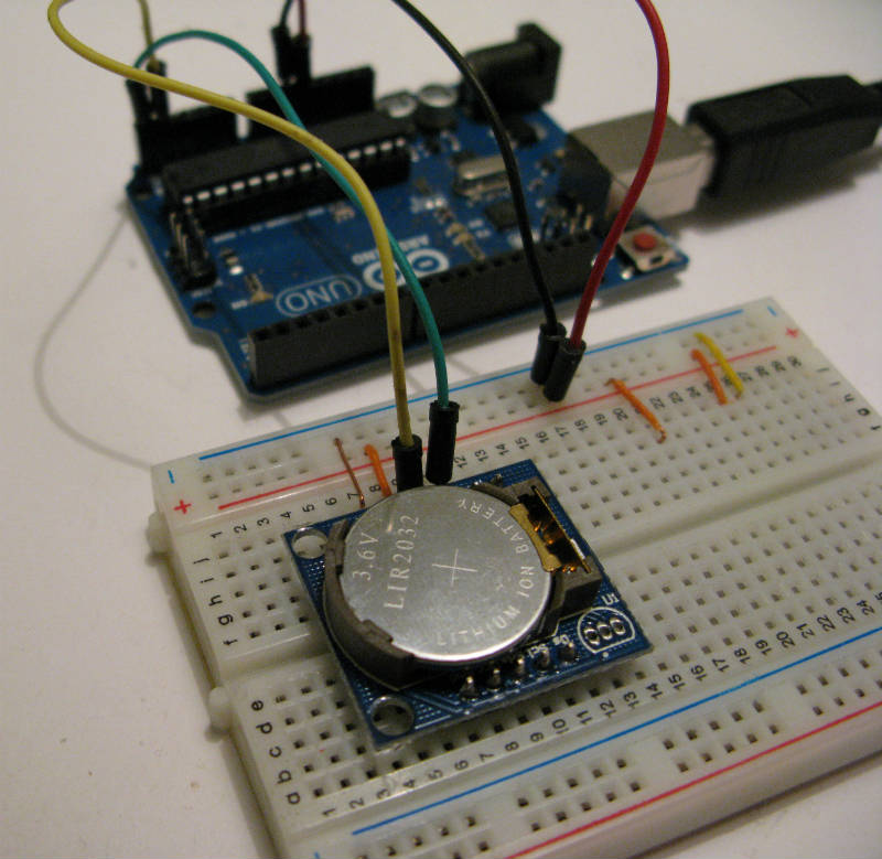 MODULO DS1307 orologio calendario ARDUINO RTC  time clock Shield DS scheda