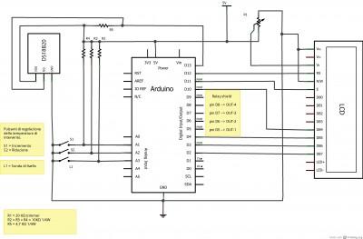 Termostato e sensore di livello con arduino e DS18B20